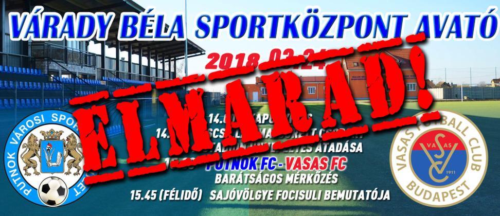 Elmarad a Várady Béla sportközpont avatója